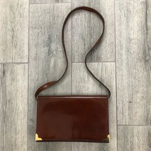 Vintage Italian Leather Clutch with straps